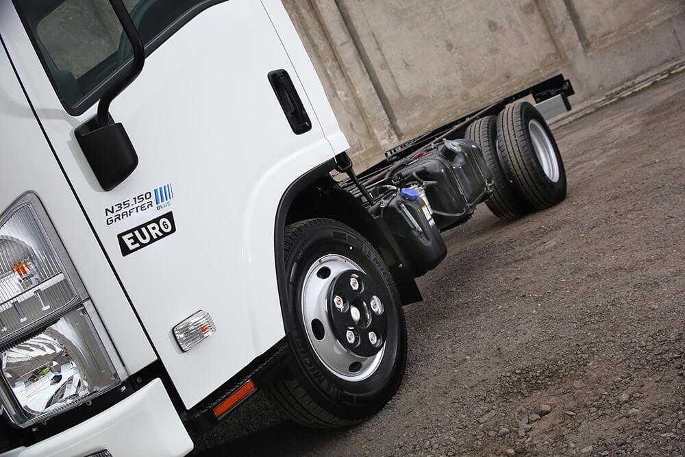 Isuzu truck N35.150 Grafter Blue twin rear wheel chassis cab