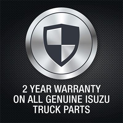 Isuzu truck genuine parts 2 year warranty logo