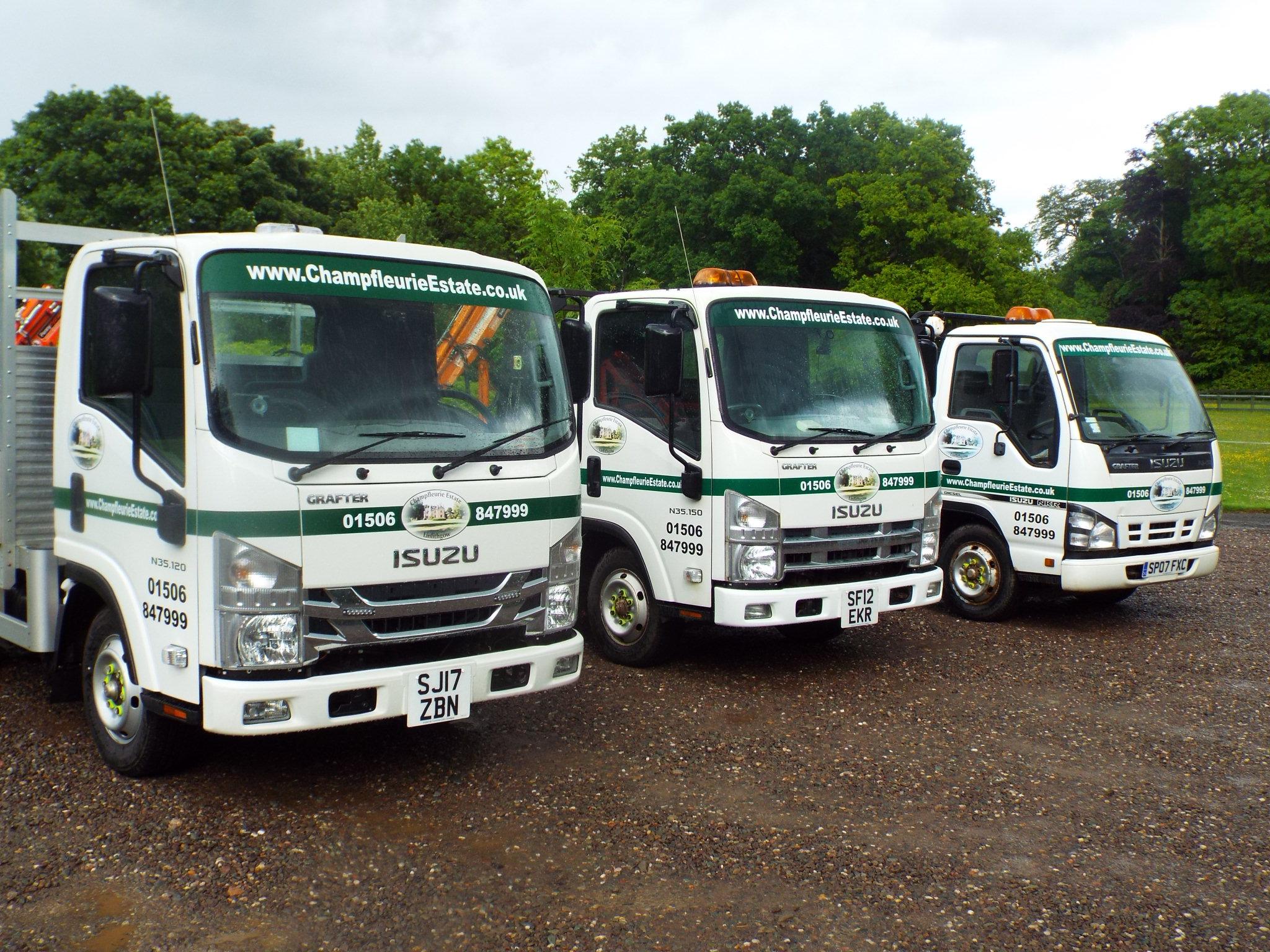 An image of Isuzu truck N35 Grafters belonging to customer Champfleurie Estate