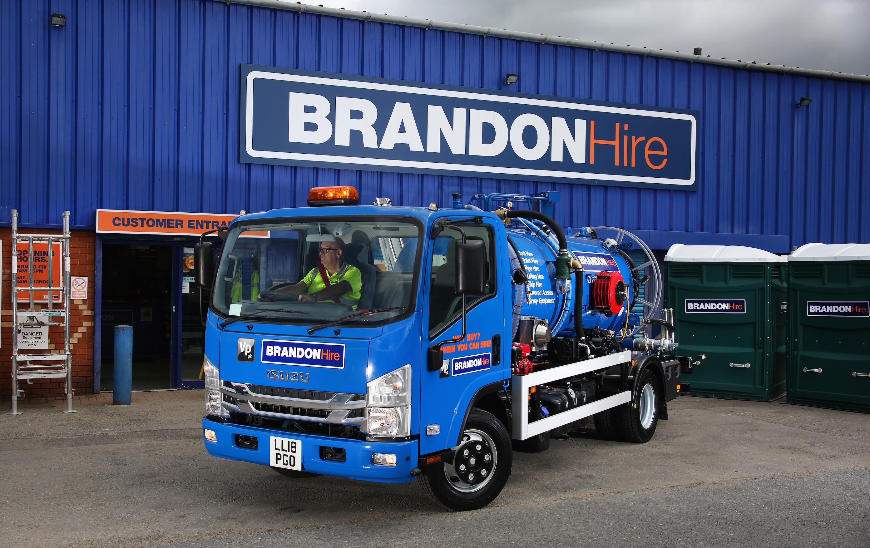 Brandon Hire Isuzu truck