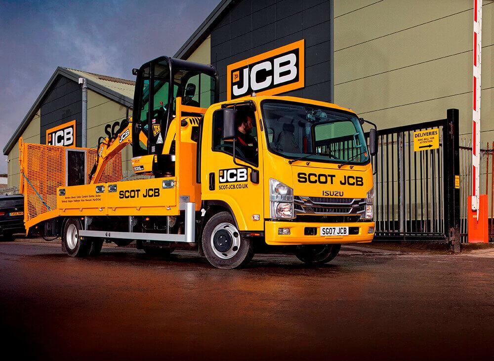 An image of a Scot JCB Isuzu Truck