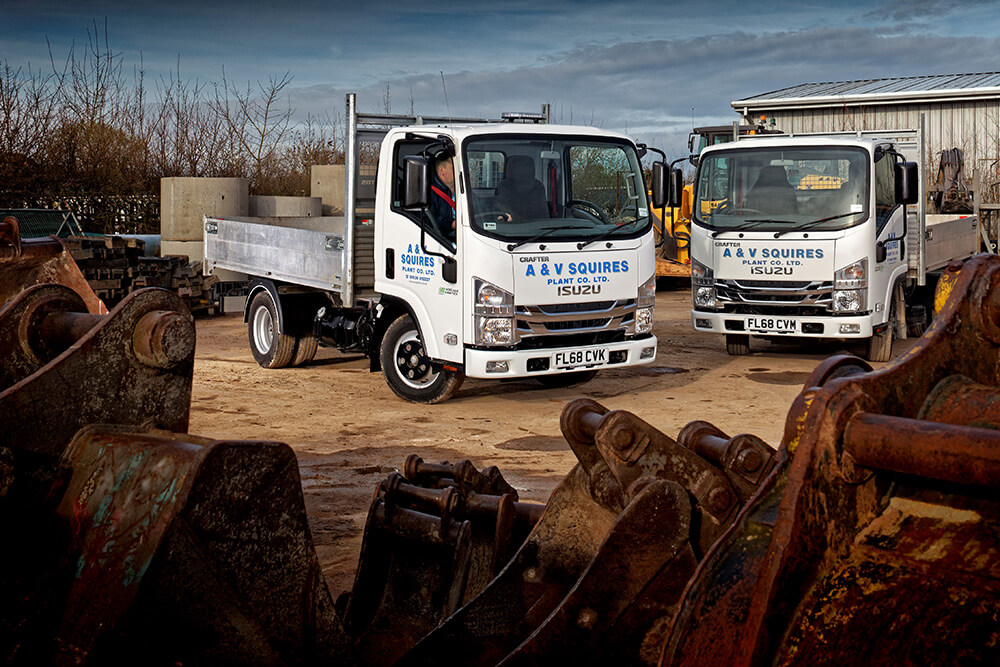 3.5 Tonne Isuzu Grafters for Squires