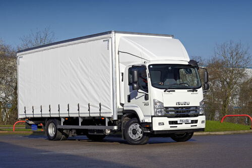 Image of Isuzu Truck UK 11 tonne Demo Truck with curtainside body F110.210