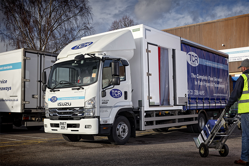 An image of TCR Food Service's new Isuzu Truck