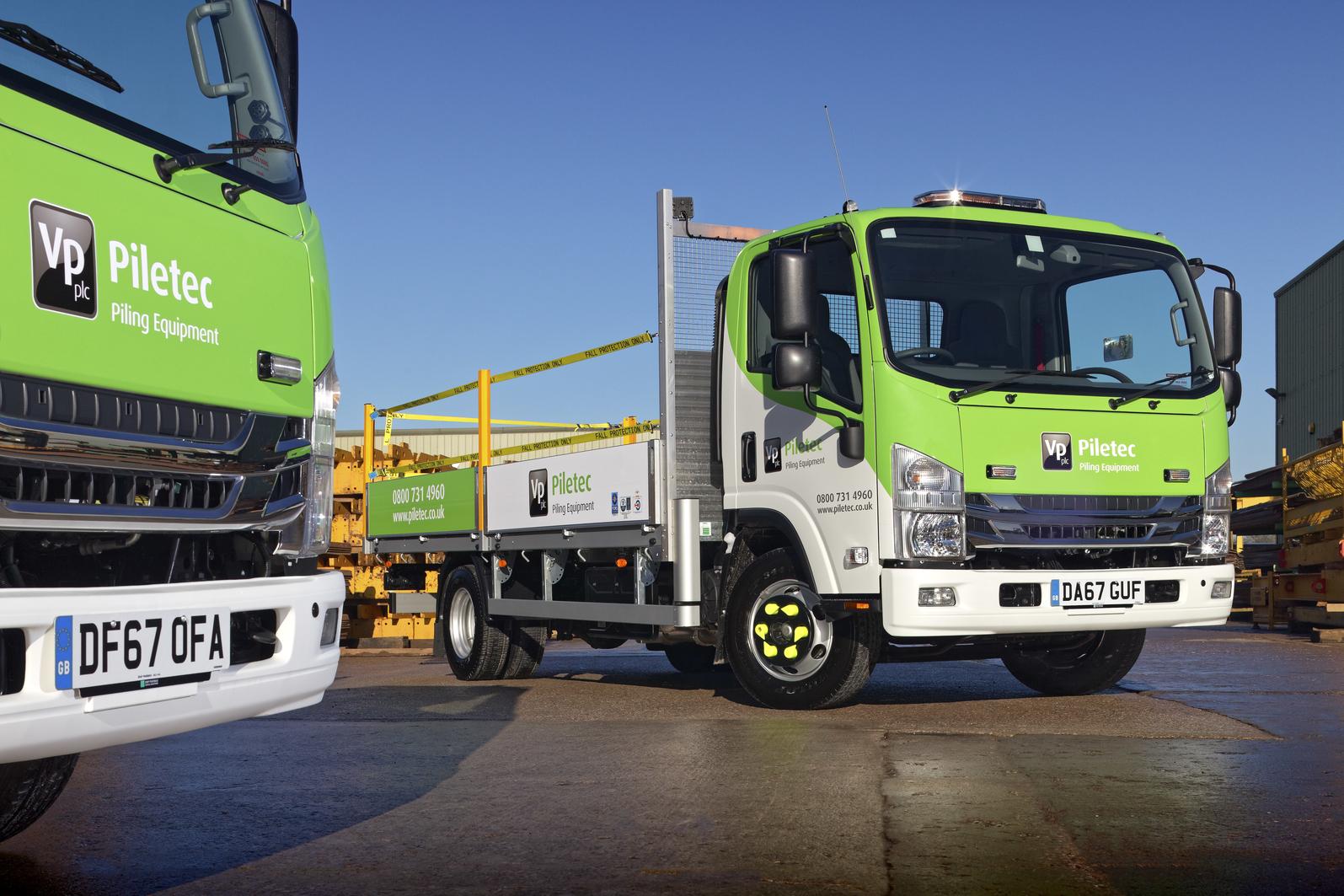 7.5 tonne Isuzu Beavertail Trucks for Piletech