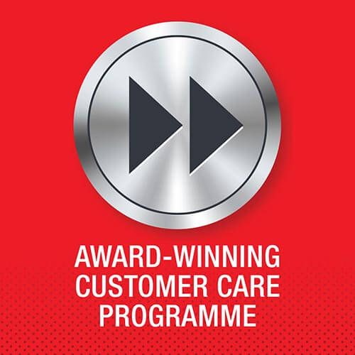 Isuzu truck award-winnning customer care programme logo