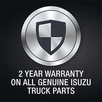 Isuzu truck genuine parts 2 year warranty logo