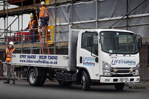 Image of Isuzu Truck UK N35 3.5 tonne Grafter belonging to customer Lakes Scaffolding
