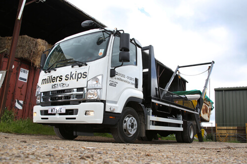 Image of Isuzu Truck UK Miller Skips 11 tonne truck F11.210