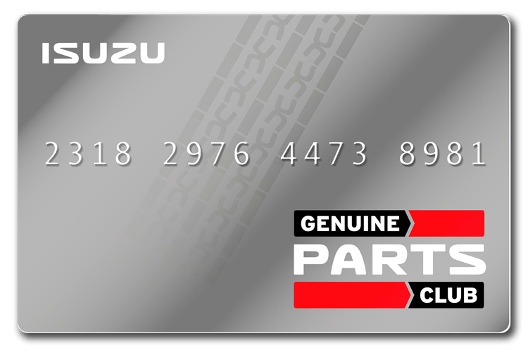 Isuzu Genuine Parts Club Card