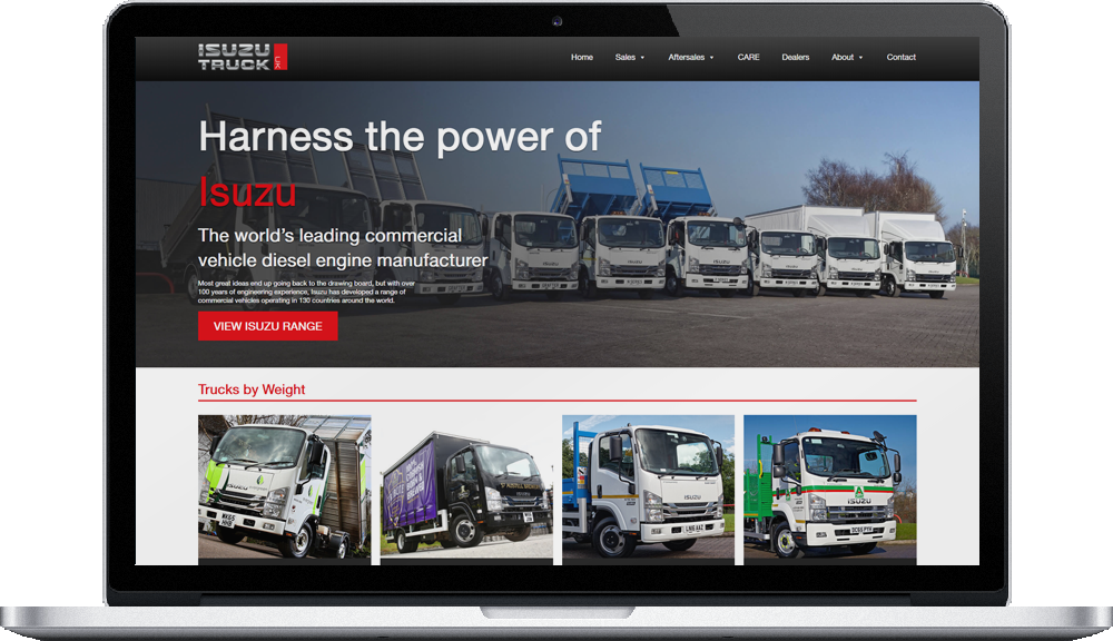 Isuzu Truck UK new website