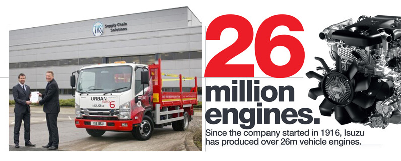 26 million engines. Since the company started in 196, Isuzu has produced over 26m vehicle engines.