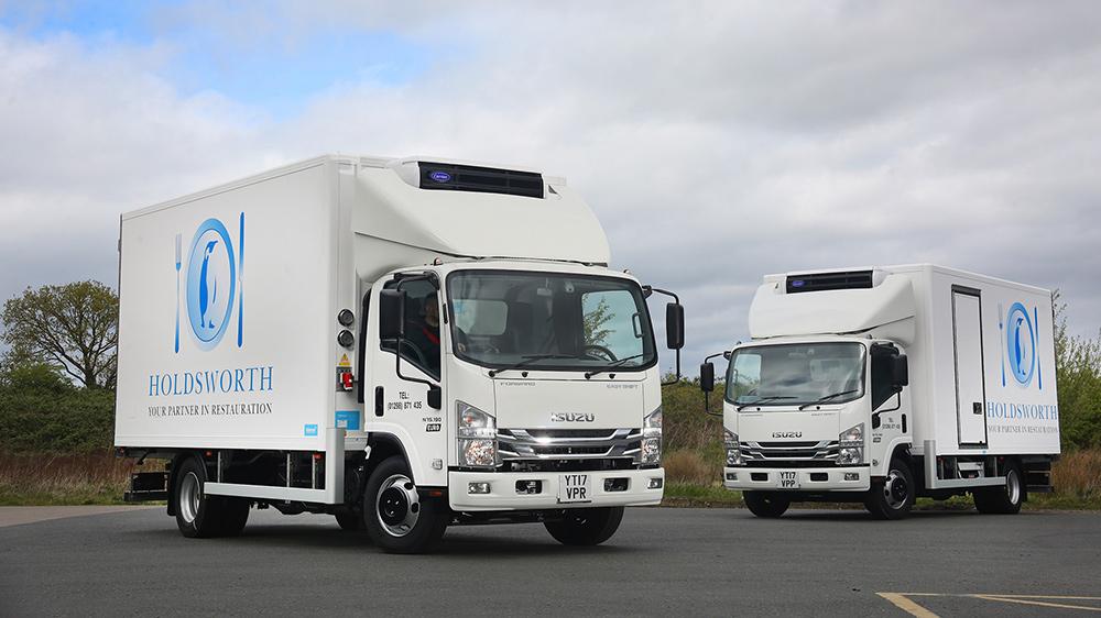 7.5t Refrigerated Trucks from Isuzu for Holdsworth Food