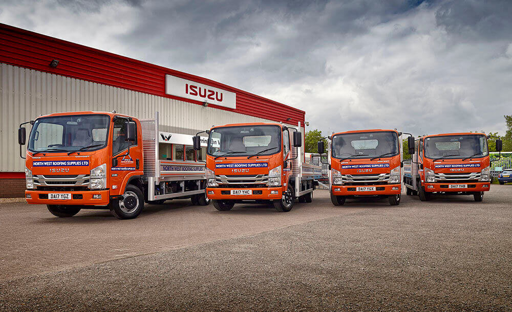 7.5t Isuzu Dropside Trucks for North West Roofing