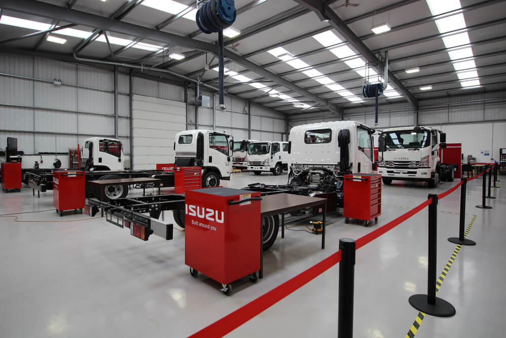 Image of the Isuzu Truck UK workshop